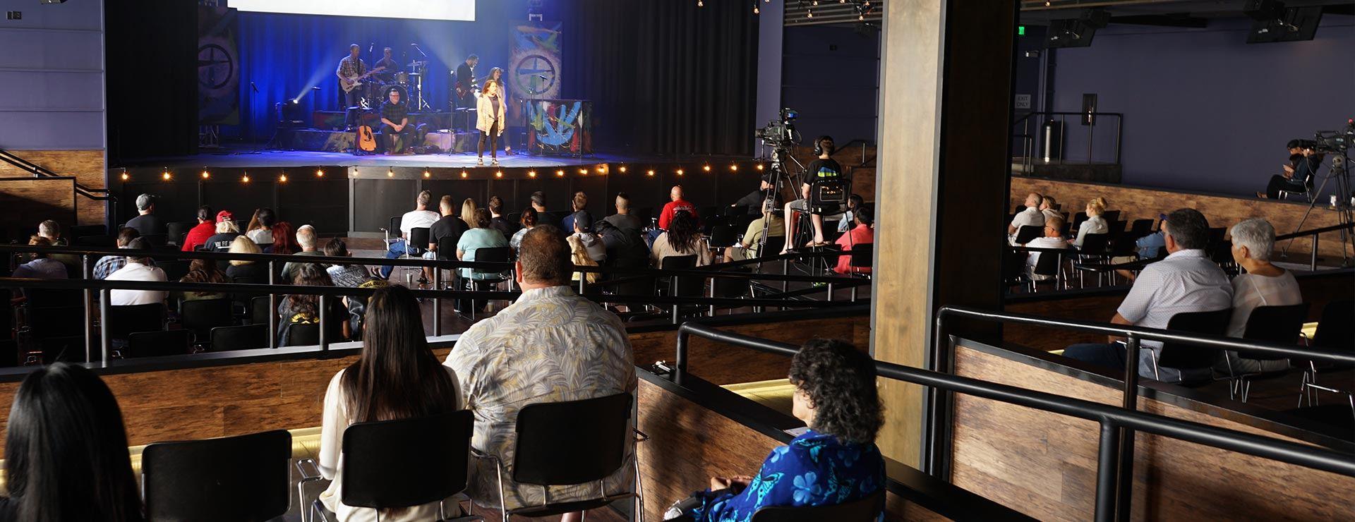 Indoor Church Service in Costa Mesa
